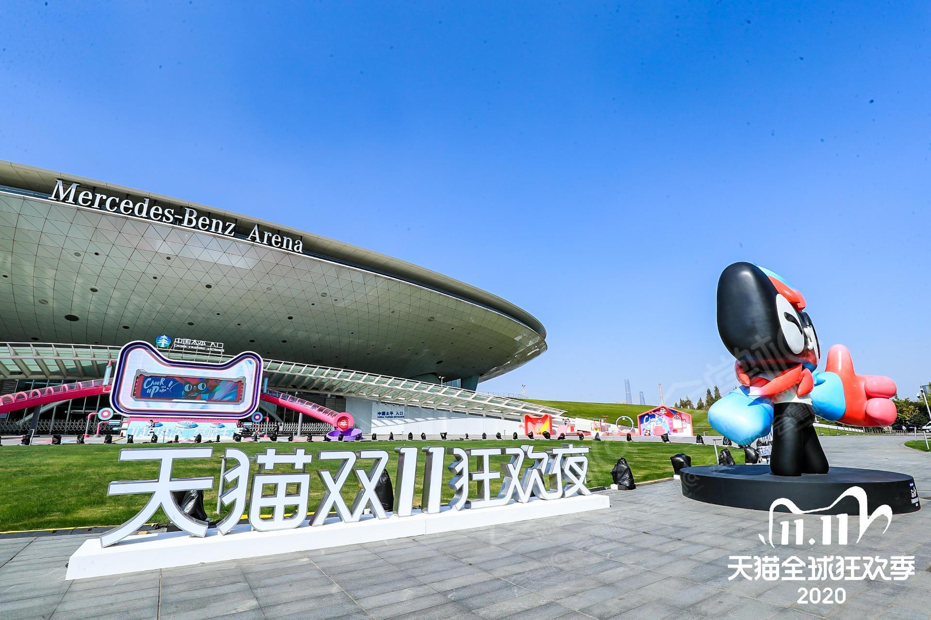 上海梅赛德斯奔驰---3000m²的场地能容纳5000多人