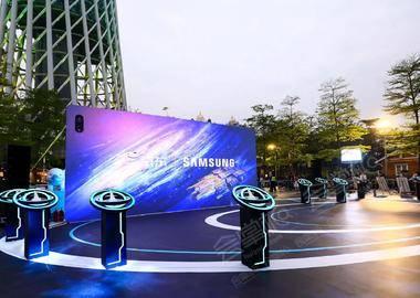 廣州塔三星京東首發投影秀