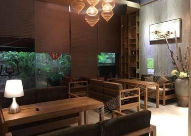 露天小花园+咖啡厅